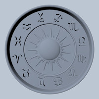 3d model zodiac rosette