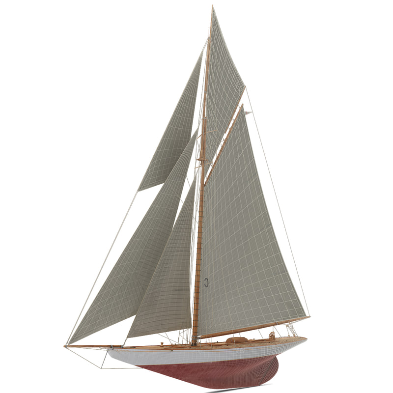 sailboat boat sail 3d max