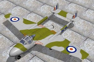 vampire jet fighter haviland 3d model