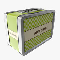 3d vintage lunch box model