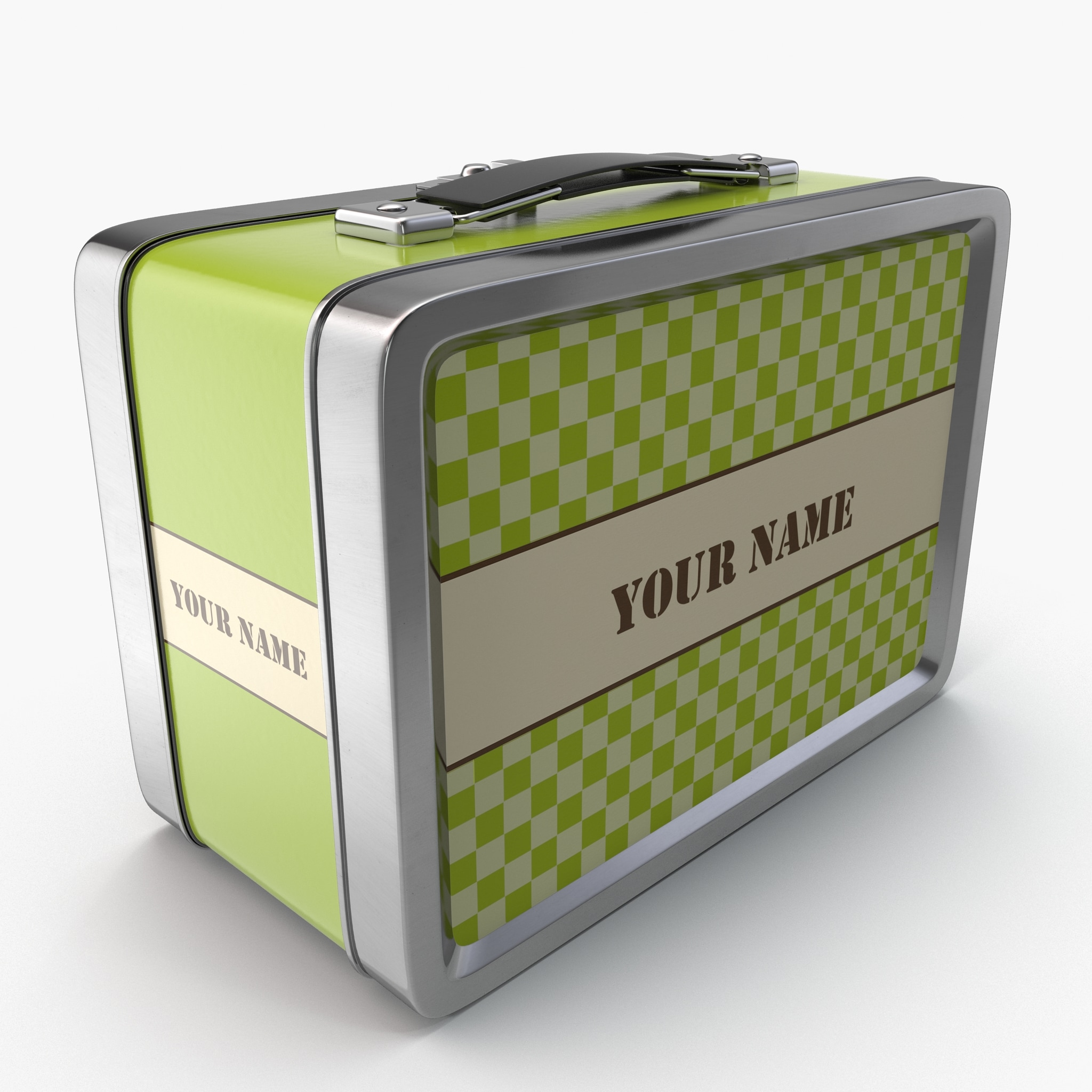 3d vintage lunch box model