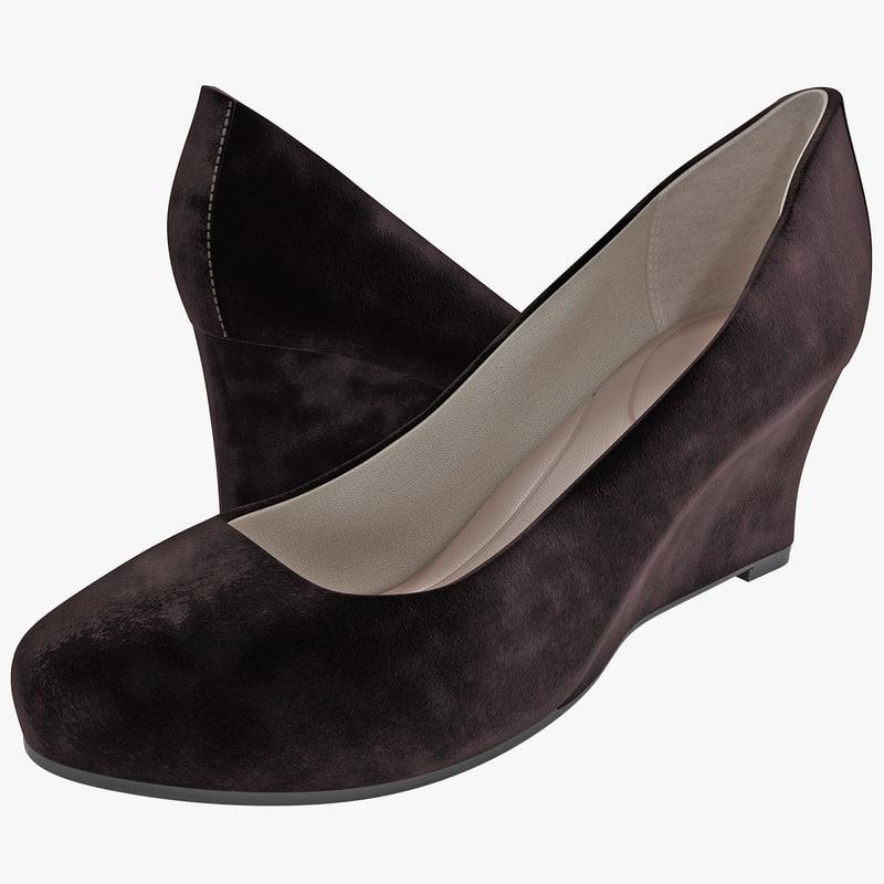 3d wedge heel pumps