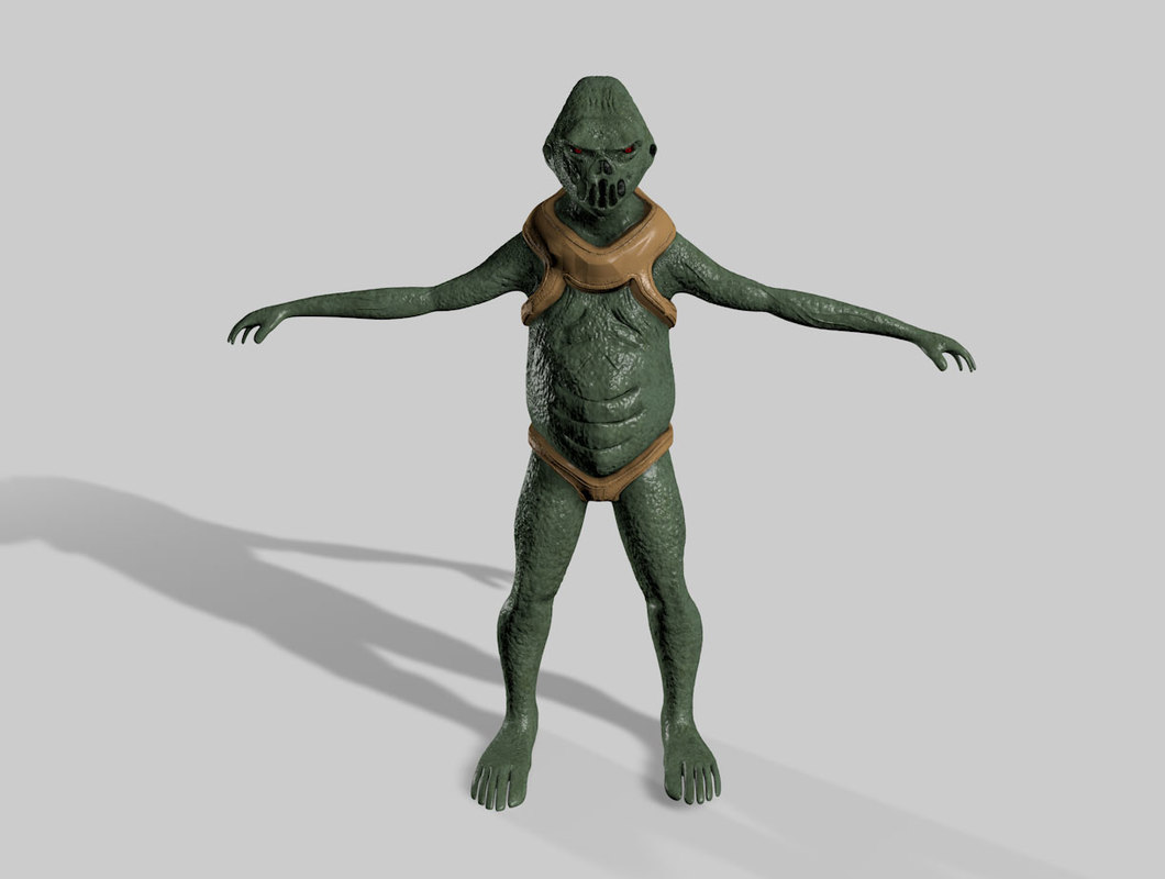 cinema4d rigged alien creature