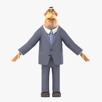 3ds max rigged businessman