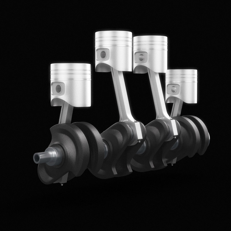 3d model crankshaft animation