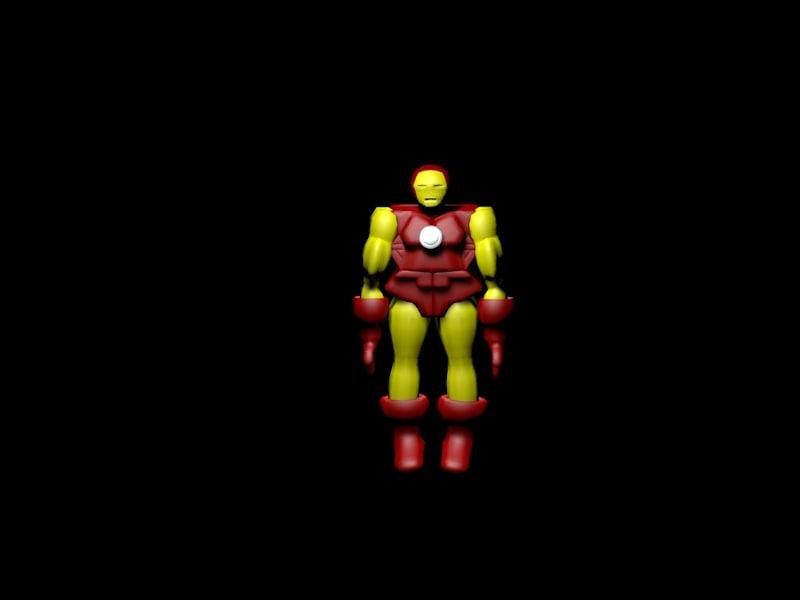 iron man 3d c4d