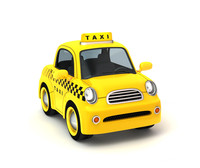 cartoon taxi 3d lwo