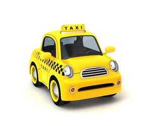 cartoon taxi 3d lwo