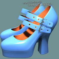 free ladies goth 3d model