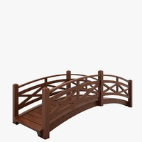 3d obj wooden bridge wood