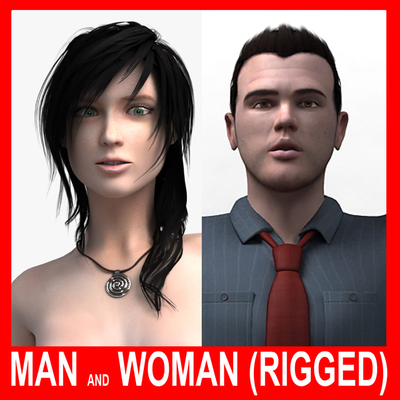 max realistic man woman rigged