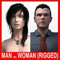 Man and Woman (Rigged)