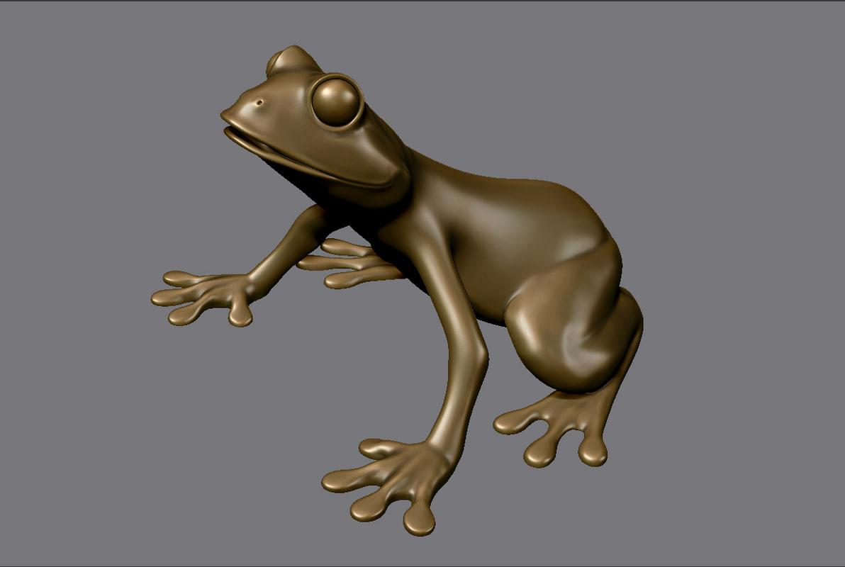 3d frog print model