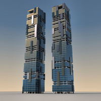 modern buildings 3d max