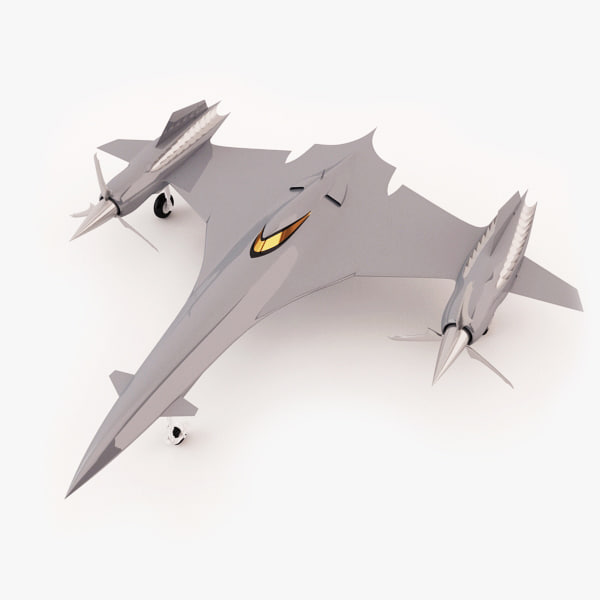 3d turbo plane model