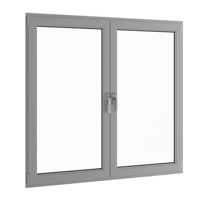 window metal 3d c4d