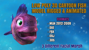 cartoon fish animation bones max
