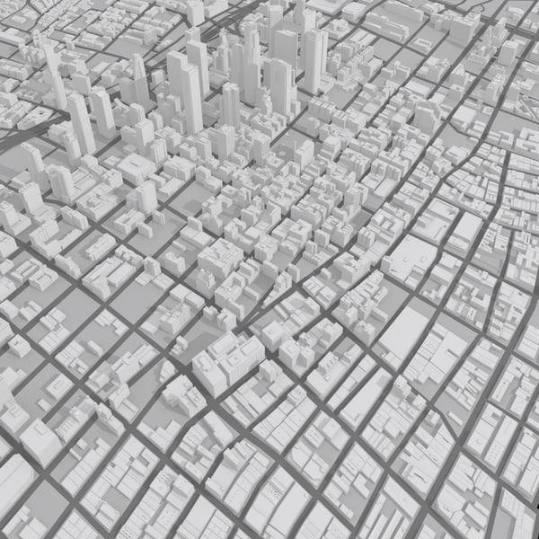 city los angeles 12 3d model