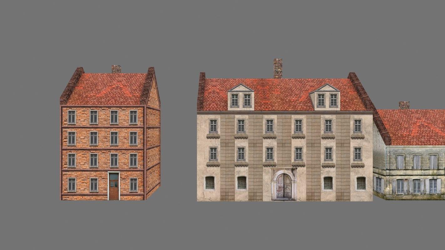 buildings polys 3d max
