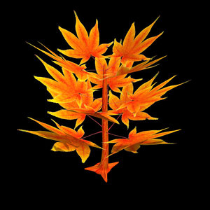 3d model of flower tree