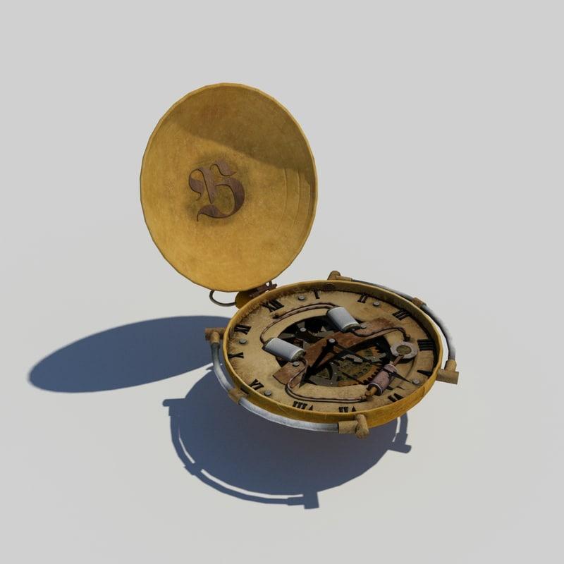 3d model steampunk watch