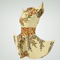 3d model of chinese dress