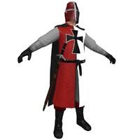 3d medieval templar model