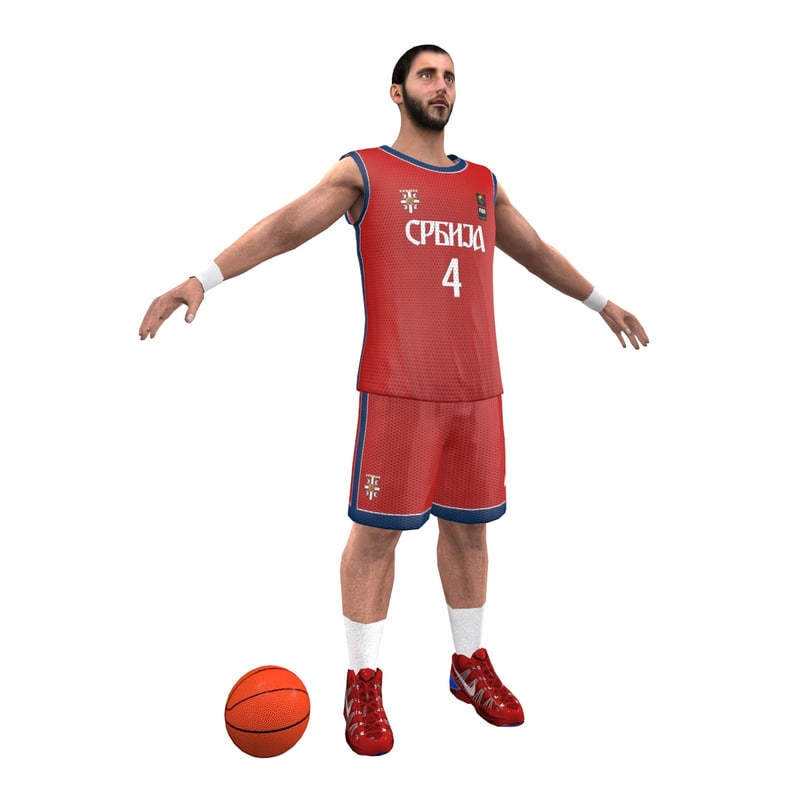 3ds max basketball player ball