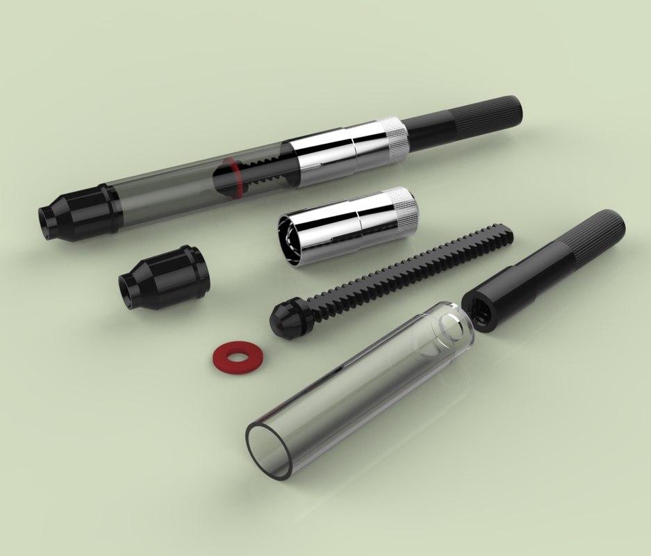 parker fountain pen twist 3d model