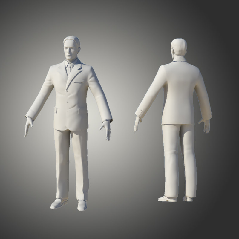 3d model of man human guy