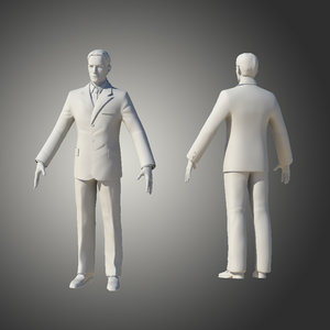 3d model of man human guy