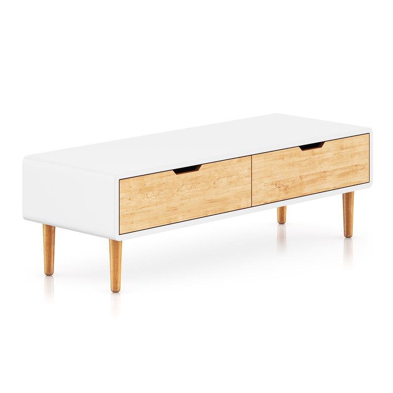 small white cabinet 3d model