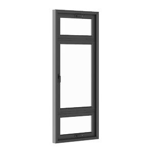 3d model window black metal
