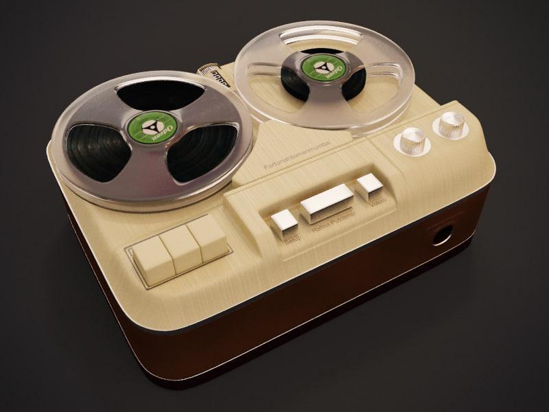 retro magnetophone 60i 3d 3ds