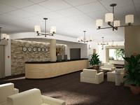 hotel reception 3d max