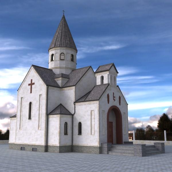 free armenian church 3d model