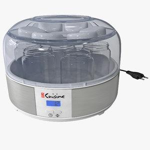 3d model automatic yogurt maker