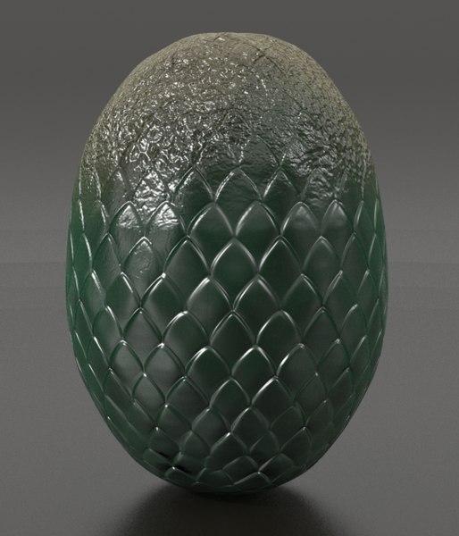 legendary dragon eggs 3d obj