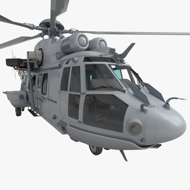 3d model eurocopter ec725 caracal tactical