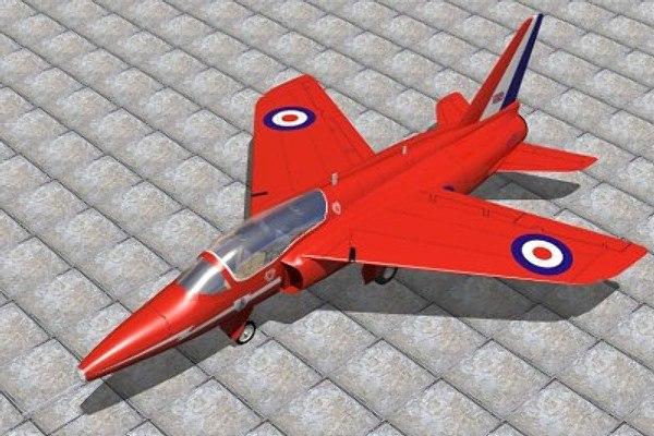 3d model gnat siddely red arrows