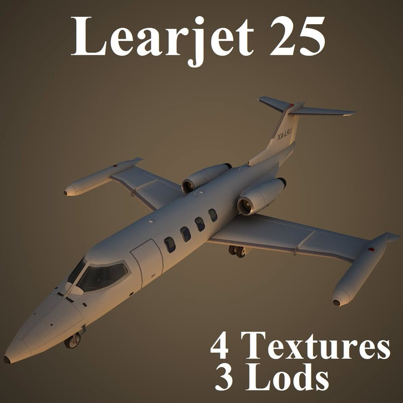 3ds max learjet 25