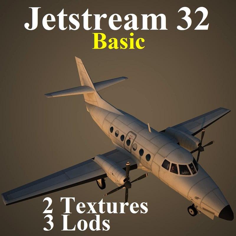 3d model of british aerospace 32 basic