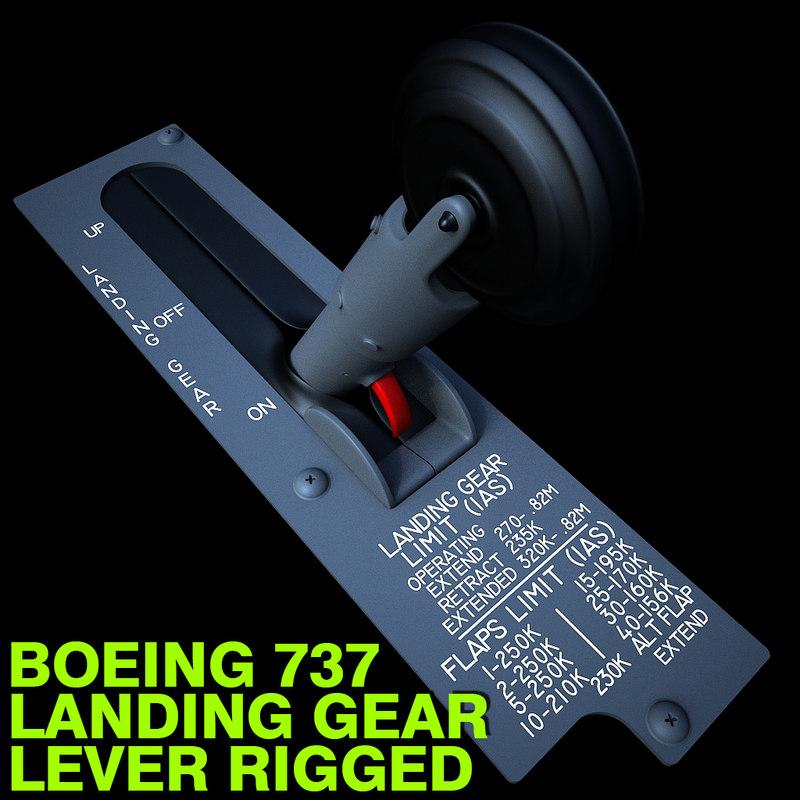 3d model boeing 737 landing gear