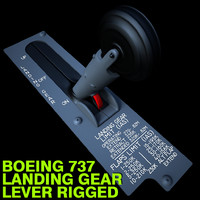 Aircraft Landing Gear Lever Rigged