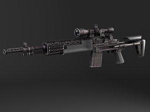 rifle sniper m14 3d model