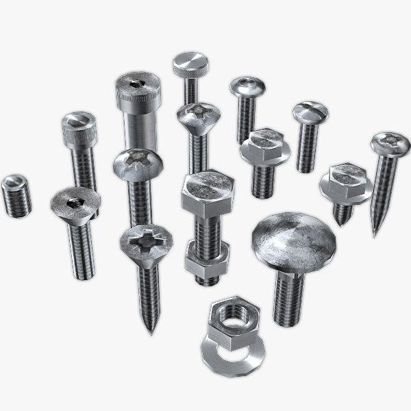 screws hardware 3d model
