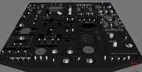 Cockpit Overhead Instrument Panel 3D Model