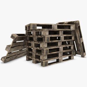 3d model pallets old