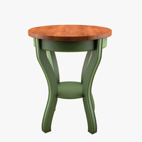 3d painted sidetable
