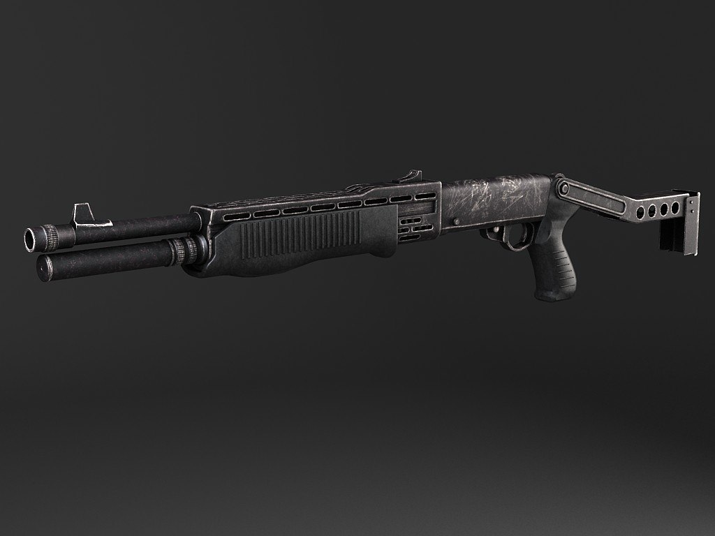 12 gun spas-12 3d model